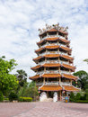 Chinese pavilion in buddhist temple in thailand Royalty Free Stock Photography
