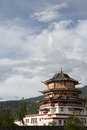 Chinese pavilion niyang of nyingchi tibet china Royalty Free Stock Photography