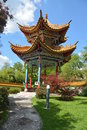 Chinese pavillion in garden beautiful pavilion landscaped Stock Images