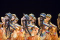 Chinese people folk dance Stock Image