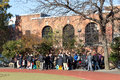 Chinese people gathering in public park, NYC Royalty Free Stock Photo