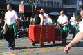Chinese percussion new year parade in downtown los angeles february st Royalty Free Stock Photo