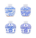 Chinese porcelain isolated on white Stock Photography