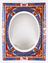 Chinese porcelain photo frames Royalty Free Stock Photos