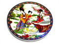 Chinese porcelain saucer Royalty Free Stock Photo