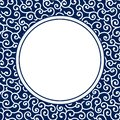 Chinese Porcelain Style Background, Template, Cirrus Royalty Free Stock Photo