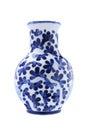Chinese porcelain vase on white background Stock Images