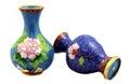 Chinese porcelain vases blue vase with white background Royalty Free Stock Photography