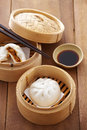 Chinese pork bun Royalty Free Stock Photo