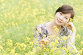 Chinese pretty girl smiling rape Royalty Free Stock Photography