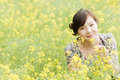 Chinese pretty girl smiling rape Royalty Free Stock Images
