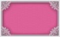 Chinese rectangle frame on pink pattern oriental background for greeting card decoration