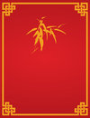 Chinese red bamboo flier design Royalty Free Stock Photo