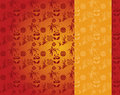 Chinese red and gold panda and bamboo pattern vertical banner Royalty Free Stock Photo