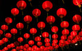 Chinese red lamp Stock Photo