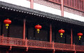 Chinese red lantern traditional taken in china at winter Stock Image