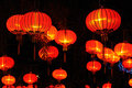 Chinese red lanterns Royalty Free Stock Photo