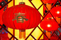 Chinese red lanterns several of different sizes Stock Photography