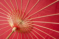 Chinese red oiled-paper umbrella Stock Photos