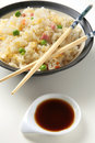 Chinese rice three delights Stock Image