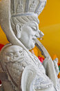 Chinese rock warior ancient warrior sculpture Stock Photos