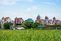 Chinese rural scenery hangzhou suburban residential area landscape Royalty Free Stock Photography