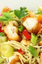 Chinese salad, closeup Royalty Free Stock Images