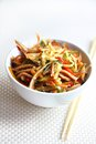 Chinese salad with pig ears and vegetables spicy Stock Photography