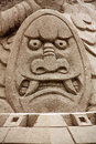 Chinese sand sculpture mythical creature Royalty Free Stock Image