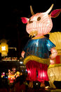 Chinese Sheep Animal Zodiac Lantern Stock Images