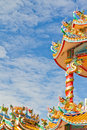 Chinese Shrine, a beautiful Chinese temple. Royalty Free Stock Photos