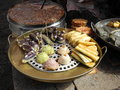 Chinese snacks an array of in lijiang china Stock Photo