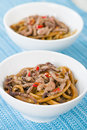 Chinese Spicy Beef and Black Bean Sauce Royalty Free Stock Photo