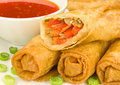 Chinese Spring Rolls Royalty Free Stock Photography