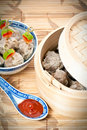 Chinese Steamed Dumplings Royalty Free Stock Photography