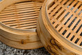 chinese steamer made with bamboo. Royalty Free Stock Photo