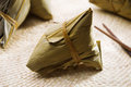 Chinese sticky rice dumpling zongzi or traditional steamed glutinous dumplings food dim sum asian cuisine Stock Photos