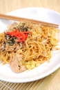 Chinese stir fried noodles japan food Royalty Free Stock Image