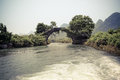 Chinese stone bridge in guilin Royalty Free Stock Photography