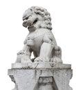 Chinese Stone Lion Isolated