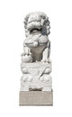 Chinese stone lion statue Royalty Free Stock Photo