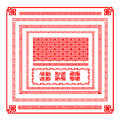 Chinese style border decoration element for design vector illust Royalty Free Stock Photo