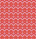 Chinese style circle diamond half symmetry seamless pattern