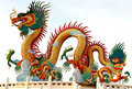 Chinese style dragon statue, taken in Thailand Stock Photos
