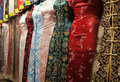 Chinese style dresses. Hong Kong. Royalty Free Stock Image