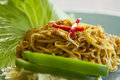 Chinese style fried noodles Royalty Free Stock Photos