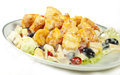 Chinese style fried shrimp fruit salad mayonnaise Stock Image