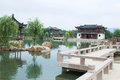 Chinese style garden in jiangsu province Royalty Free Stock Images