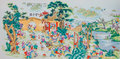 Chinese style porcelain pastel painting reproduction of an ancient called hundred children Royalty Free Stock Images