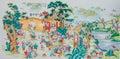 Chinese style porcelain pastel painting Royalty Free Stock Photo
